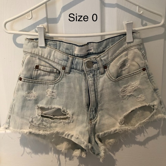 Garage - Ripped Denim Shorts
